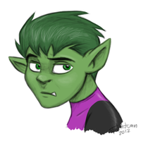 Beastboy Portrait by JustAutumn