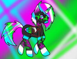 Rave Soundwave pony adopt [Closed] by Dark-Angel-Rin