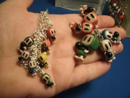 Bomberman Charms and Bracelet by Pandarat