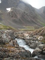 Waterfall at Crow's Pass 15 by prints-of-stock