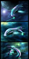 space ships anti matter fleet by Vaghauk