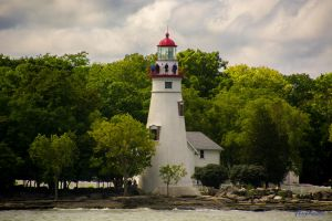Marblehead Lighthouse from Lake Erie by phbeks