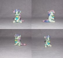 MLP custom blindbag: Sweetie Belle with milkshake! by vulpinedesigns