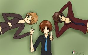 Happy Hetalia Day!~ ( Italy Brothers ) by DisruptiveDiva