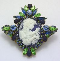 Sweet Serene Cameo Brooch by Moon-Bubbles