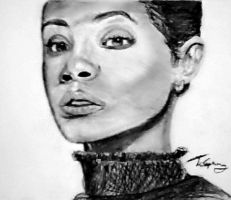 Charcoal Jada Pinkett Smith by blacknimproud