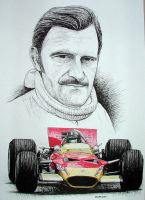 Graham Hill Tribute by machoart