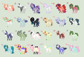 24 Pony Adoptable Sheet: CLOSED by StarDust-Adoptables