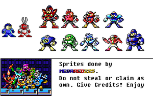 Mega Man PC Style Resprites by MegaRed225