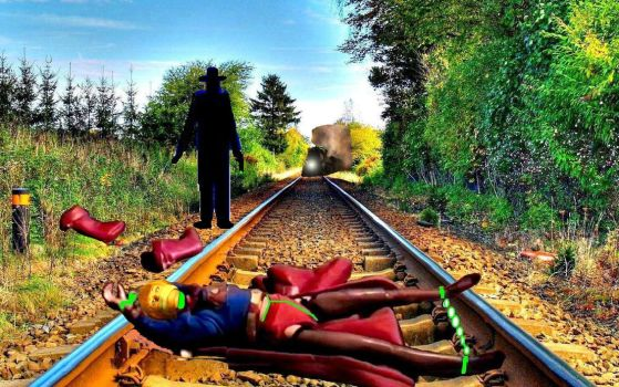 K 'd and tied to the tracks! by capodicapo