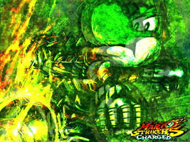 Yoshi Strikers Wallpaper by Dann-The-Yoshi