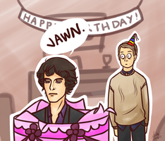 SHERLOCK: Happy Birthday by foreverfreefalling