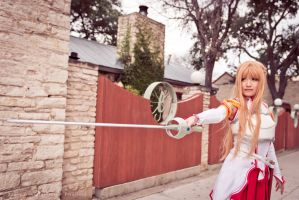Asuna Yuuki fights with Lambent Light by firecloak