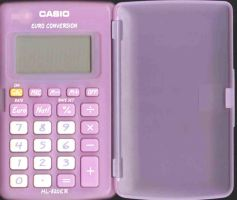 Pink cute calculator by morana-stock