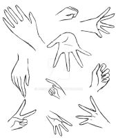 Hands practice 1 by AnzuAngel
