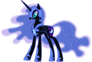 Nightmare Moon as Herself by 90Sigma