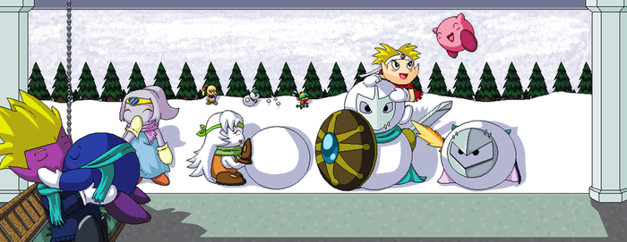 Kirby Christmas (2008) by ChibiAbsol
