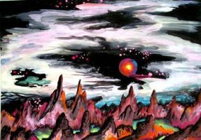 Dead planet Tsagilla in system of red giant star by SOFIAMETALQUEEN