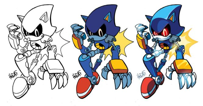 Inks-to-Colors Metal Sonic by herms85