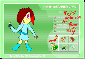 Arinia Region Trainer Card Meli by Frozen-Icicles