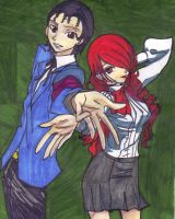 Request: Persona 3 OC Steve Sandgo and Mitsuru by sailorchix