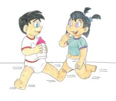Baby Danny and Sam by Jose-Ramiro