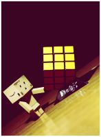 Rubiks cube and Danbo by Hemaka86
