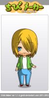kurt cobain in chibimaker by scarymovie13