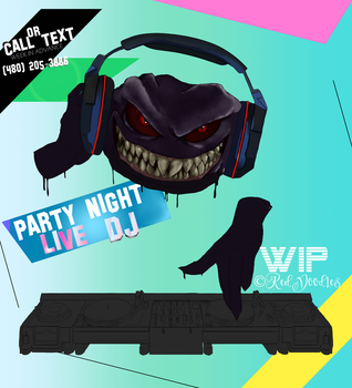 DJ Ad/Promo Black_Lithium WIP by GagaPotterTribute