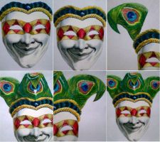 harlequin mask wip2 by aramismarron