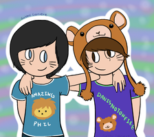 AmazingPhil and Danisnotonfire by fruitycutie
