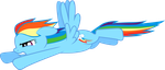 Flying Rainbow Dash by Silentmatten