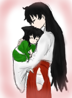Kagome and Aurora by AbominalSnowDemon