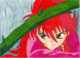 Kurama and the Rose Whip by aikou-yami