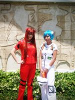 Pinky Street - Asuka and Rei by Fraulein-Mao