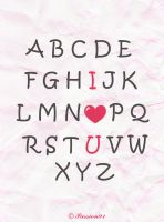 My alphabet by Passion91