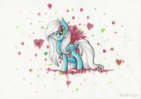 Gift : Flitter Heart by PumpkinKikile