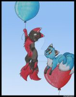 Balloon Ride by charryblossom