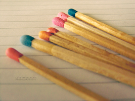 colored matches. by monsterseverywhere