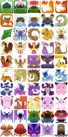 PokeMonster Hunter Icons by Gryphon-Shifter