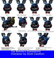 Toy Bonnie's Expressions by Apprenticehood