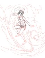 LoK- Rock surfing sketch by Roots-Love