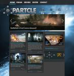 Particle Gaming Website + Logo [Work in progress] by LukeeeeBennett