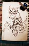 Owl tattoo design by Fabian-Alvarez-Sosa