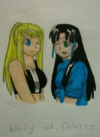 Winry and Celeste by fullmetaledward01