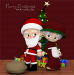 Mr. and Mrs. Claus by Frollein-Zombie