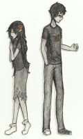 Paperstuck: Sollux X Aradia by Tamakichi