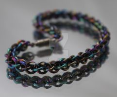 Rainbow Jens Pind Bracelet by Mommy-of-Monsters