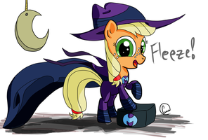 Filly Applejack on the Watch by chaosmalefic