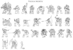 Vigilia Mortis characters by Skirill